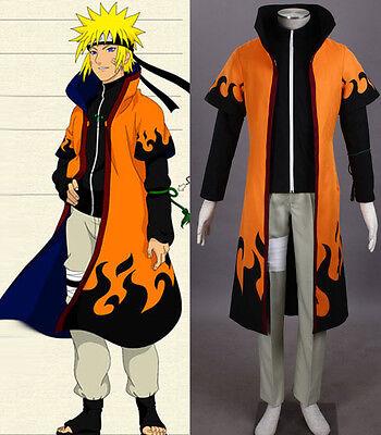 NARUTO Uzumaki Minato Namikaze Yondaime 4te Hokage Cosplay Kostüm Umhang neu new
