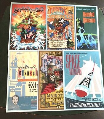 DISNEY POSTER (6) PACK - ANY (6) 12