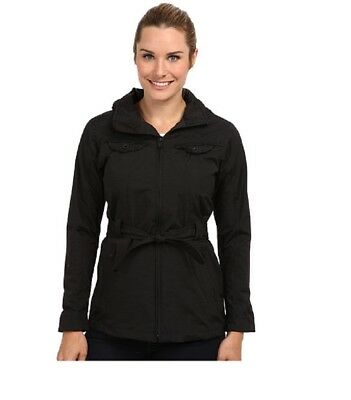 The North Face Women's K Jacket belted rain coat parka Black M
