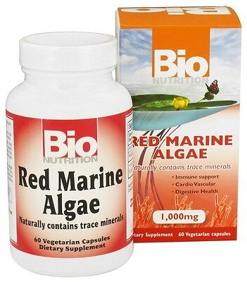 Bio Nutrition Red Marine Algae 1000 Mg Bionutrition 60 Vegetarian Capsules