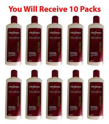 10x Vidal Sassoon Professional Hair Conditioner Salon Volume Boost 500ml 16.9oz