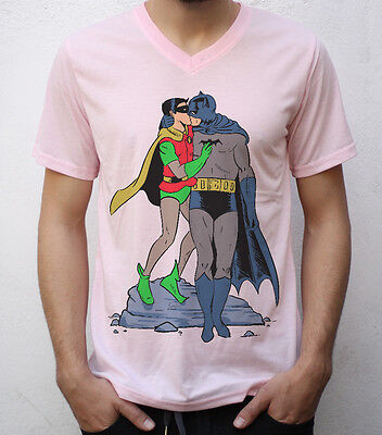 Batman & Robin Kissing T shirt Design, gay pride, funny '60s costumes (Funny 60s Costumes)