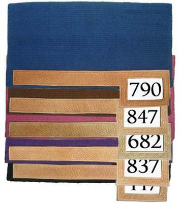 100% Wool Trophy Show Horse Saddle Blanket Pad with Number Slot Saddle Blanket Horse Show Pad