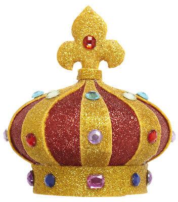 Haarspange Mini Krone zum Kostüm König Königin - Kunststoff Mini Kostüm