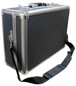Zeikos Tool/SLR Camera Carrying Travel Hard Aluminum Metal Case/Briefcase-MEDIUM