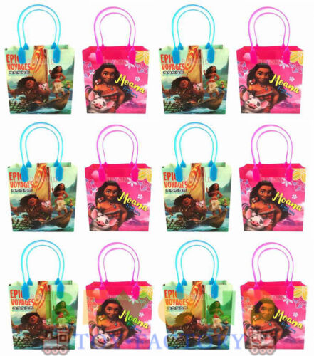 12PC Goody Bags Disney Moana w Maui Party Favors Loot Candy Bags Assorted