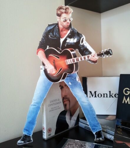 George Michael Desktop Stand Standee Figure NEW Faith Father Figure