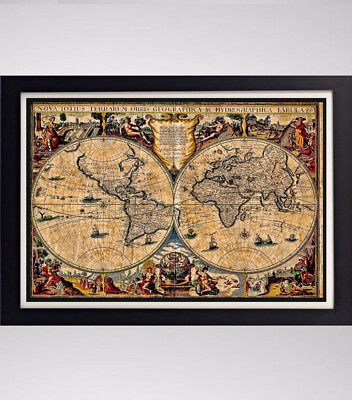 (Ancient Historical Latin Map Reproduction 11in x 17in 24in x 36in)