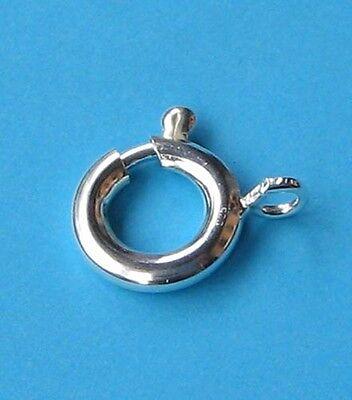 2 Stück Federring 8 mm / 925 Silber Schmuckzubehör Schmuck basteln Verschluss