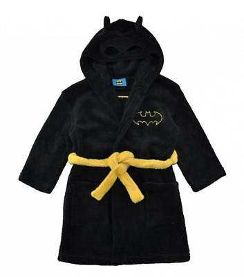 Batman Boys Black Fleece Robe Size 2T 3T 4T 5T 6 8 10 12 - Batman Robe