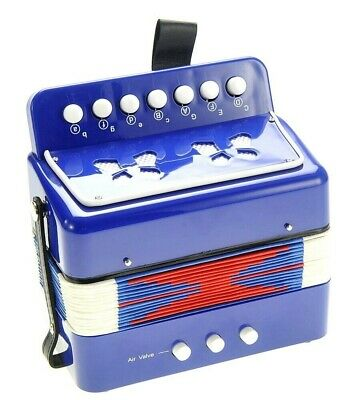 Accordion Blue Musical  Instruments for Kids Toy