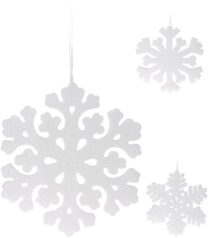 Détails sur 3 Parties Dkb XXL Déco Flocons de Neige Cristal Type Verre Noël  Décoration pour
