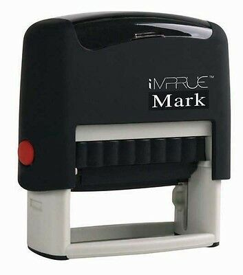 Custom Return Address 3 Line Self Inking Rubber Personalized Stamp Impruemark