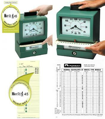 Acroprint Bp125-6nr4 Heavy Duty Manual Battery Operated Time Recorder For...