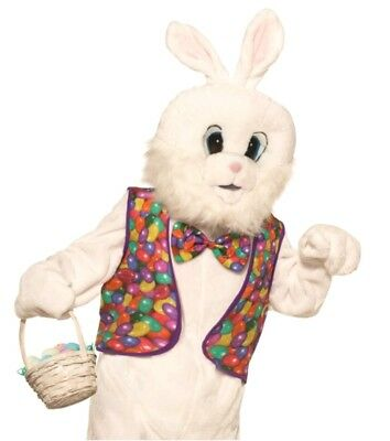 Bunny Vest (Easter Bunny Kit Animal Adult Jelly Beans Vest Bow Tie Costume Accessory)