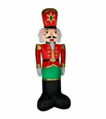 Gemmy 8 Ft Lighted Giant Sized Luxe Nutcracker Christmas Airblown Inflatable