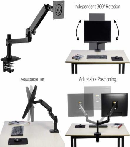 AmazonBasics Premium Single Monitor Stand - Lift Engine Arm