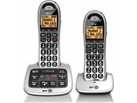 BT4600 Big Button Advanced Call Blocker Home Phone with Answer Machine - Black/White, Pack of 2