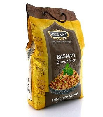 Hemani 100% Natural Brown Basmati Rice 10lbs (High In Fiber) *US Seller* F/S !!
