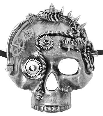 Halbmaske Retro Viktorianisch Halloween Fasching Mottoparty (Halbe Totenkopf Maske Halloween)