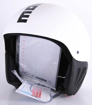 Momo design casque de ski de snowboard komet18 adultes l/xl 60-61cm blanc/noir