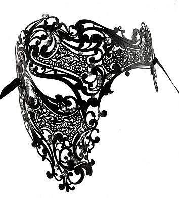 Mask Venetian Metal Luxury Ghost Carnival Prom Venice Fancy 565