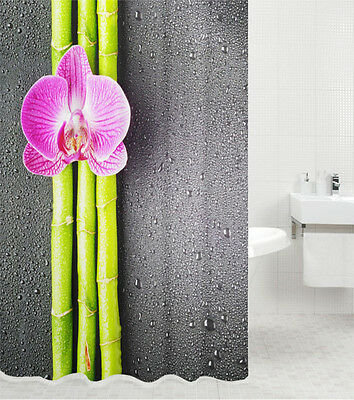 DUSCHVORHANG TEXTIL ANTI SCHIMMEL EFFEKT WC BADEWANNENVORHANG ASIA 180 x 180 cm