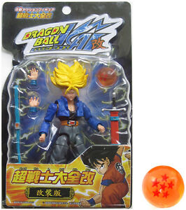 Dragonball-Z-KAI-4-5-SS-FUTURE-TRUNKS-Action-Figure-w-LARGE-DRAGONBALL