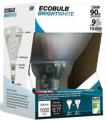 - Feit ECOBulb Plus 23W / 90W 120V PAR38 Bright White Clear CFL Flood ESLQ23PAR38