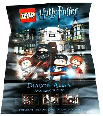 2011 Lego Harry Potter 10217 Diagon Alley Promo 19x27 Poster Limited Edition