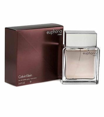 EUPHORIA MEN Calvin Klein Cologne EDT 3.4 oz 3.3 NEW IN (Calvin Klein Euphoria For Men Eau De Toilette)