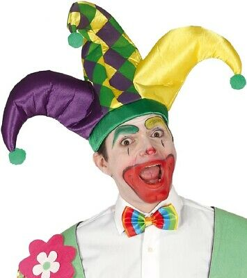 Herren Damen Hofnarr Clown Hut Zirkus Halloween Party - Hofnarr Hut