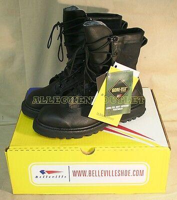Youth Boys Military WATERPROOF GORETEX COMBAT BOOTS Work Farm Hunting BLK 4.5 XW - Boys Military