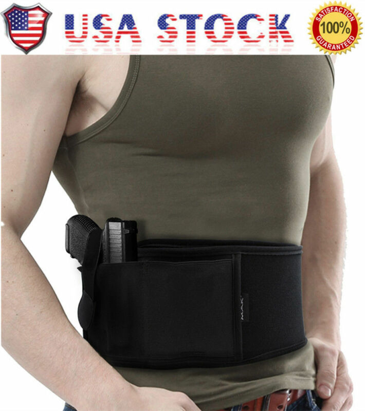 USA Holster for Concealed Neoprene WaistBand Handgun Carry Ultimate Belly Band