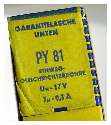 GEPRÜFT: PY81 Radioröhre, Hersteller Siemens. ID16914