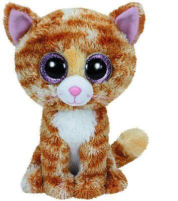 Ty Tabitha the Brown & White Cat Kitty Kitten Beanie Boos Stuffed Plush Toy