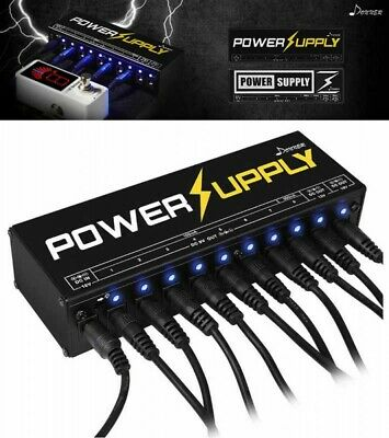 Donner Guitar Effects Pedal Power Supply 10 Isolated 9V 12V 18V Japan Tracking