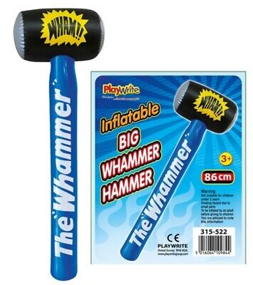 Inflatable Big Whammer Hammer - Kids Prize Prop Blow Up Party Pool Mallet Giant - Big Blow Up Pools