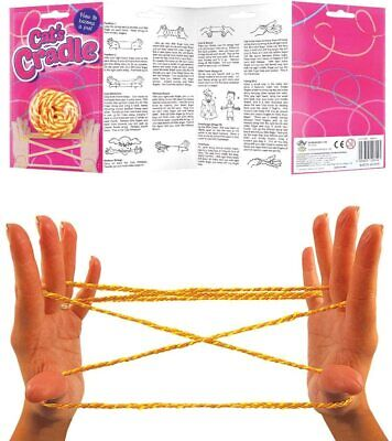 Cats Cradle String Game - Instructions Included - Knotty Game Fumble Fingers Toy