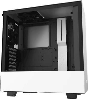 NZXT - H510 Compact ATX Mid-Tower Case with Tempered Glass - Matte White