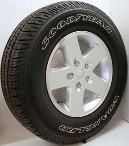 18' Jeep Wrangler Rims with tires.