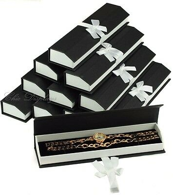 Lot Of 12 Wholesale Black Watch Box Bracelet Box Showcase Box Jewelry Gift Box