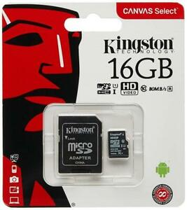 NEW KINGSTON MICRO SD FLASH MEMORY CARD -- WE HAVE MANY SIZES -- COMPARE SURPLUS PRICES !!!