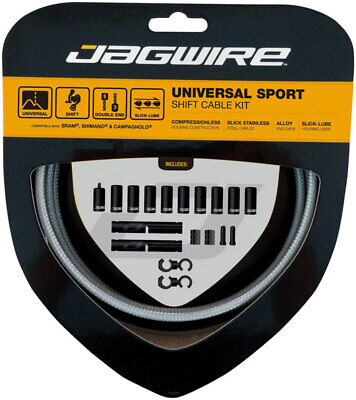 Jagwire Universal Sport Shift Cable Kit: SRAM/Shimano/Campagnolo Sterling Silver