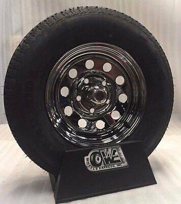 Trailer Tire On Rim 5.30-12 530 12 Load B 5 on 4.5 Chrome Modular Wheel
