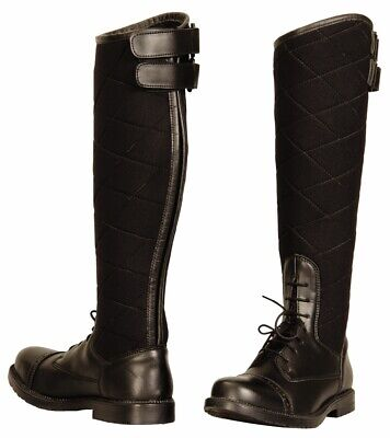 TuffRider Ladies Alpine Quilted Field Boots in Synthetic Leather