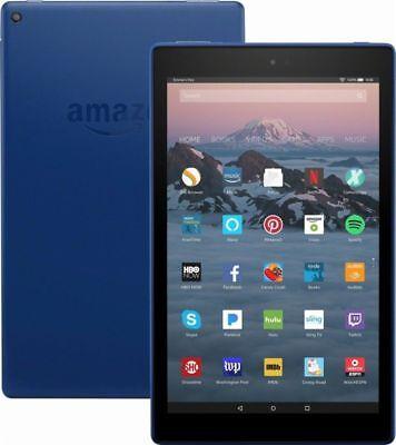 Amazon Kindle Fire HD 10 Tablet 32GB Blue 7th Gen 2017 Alexa 1 Year Warranty