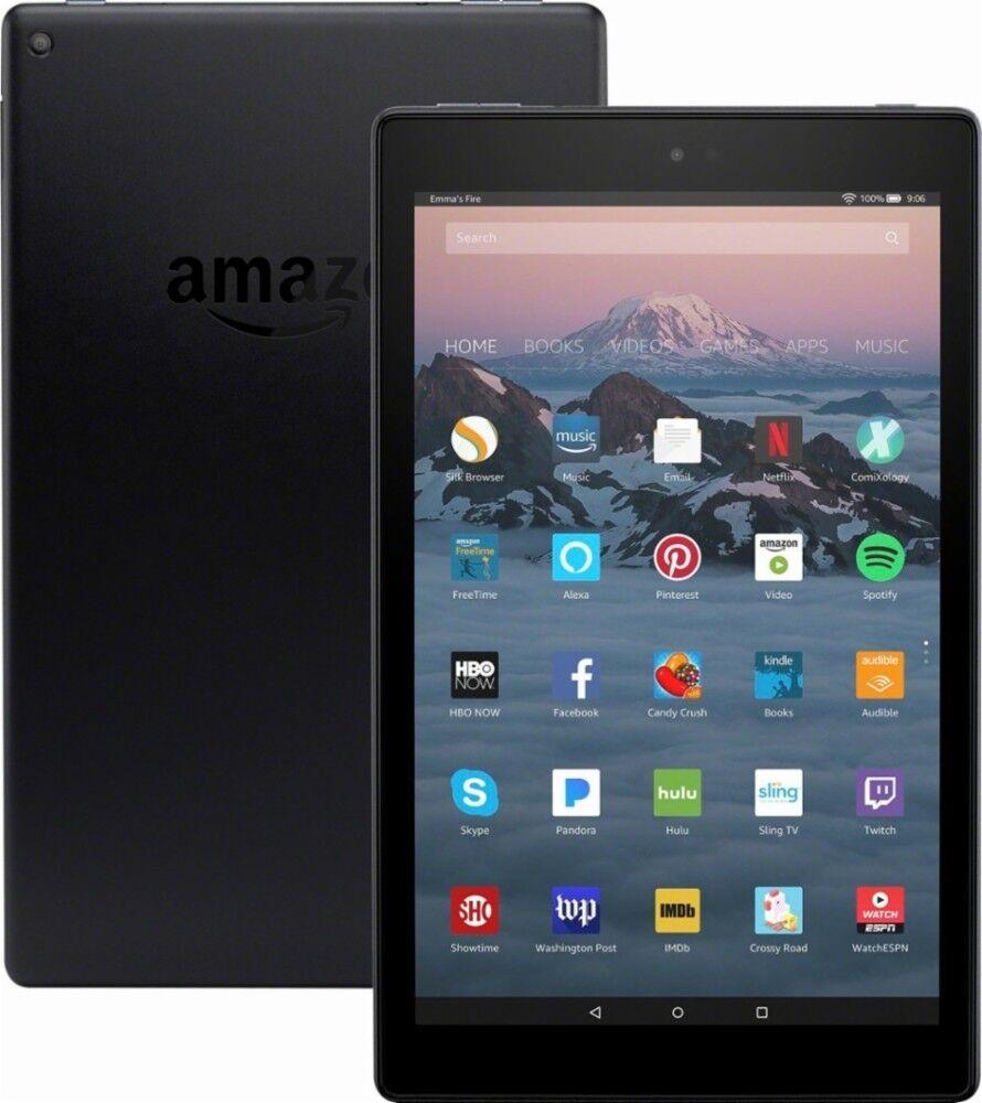 "NEW Amazon Fire HD 10 Tablet 10.1"" Display 32GB  2017 - BLAC"