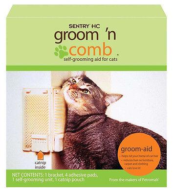 SENTRY KITTY KORNER KOMBER CAT GROOMER SELF BRUSH + CATNIP FREE SHIP IN THE USA