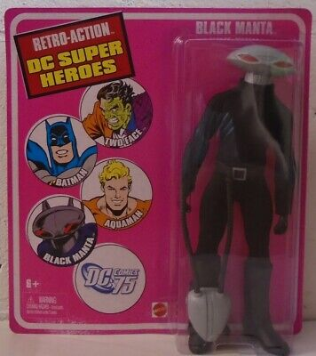 "Black Manta Retro-Action DC Super Heroes 8"" Figure ""Mego"" Mattel Aquaman Villain"